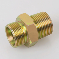 1BT BSP MALE DOUBLE FOR 60°SEAT BONDED SEAL/BSPT MALE bsp thread tube fitting